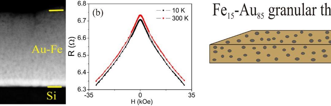 INCDFM: Film subțire nanoglobular de Fe-Au cu distribuție aleatoare a clusterilor magnetici pentru aplicații de senzoristică