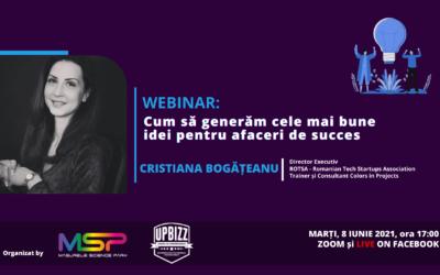 MSP Live | Webinar | Cum să generăm cele mai bune idei pentru afaceri de succes