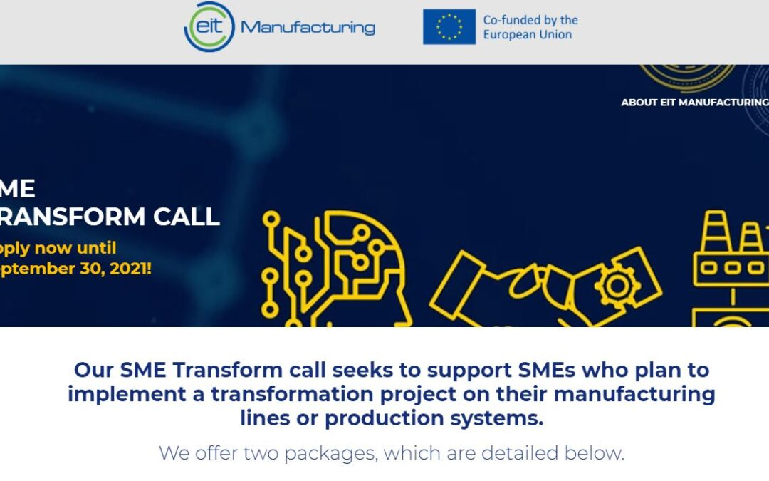 EIT Manufacturing SME Transform