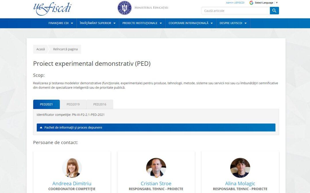Proiect experimental demonstrativ (PED)